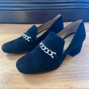 Franco Sarto Pump, Layola  Black Suede Leather 7